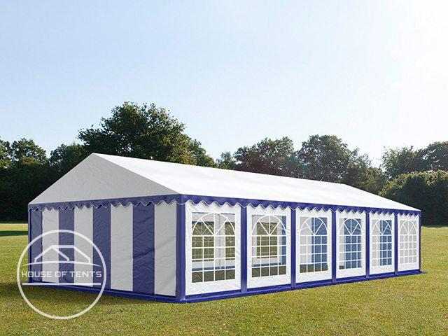 6x12m Marquee / Party Tent, PVC 500 g/m², blue-white