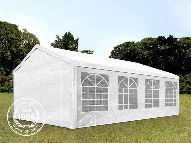4x8m Marquee / Party Tent, PE 180 g/m², white