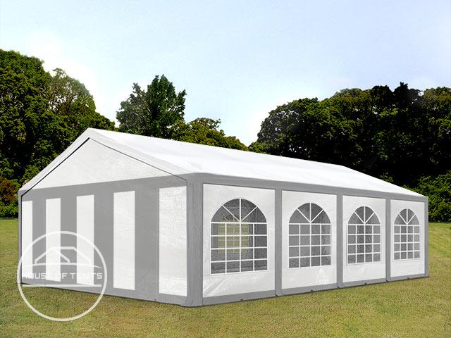 5x8m Marquee / Party Tent, PE 240 g/m², grey-white