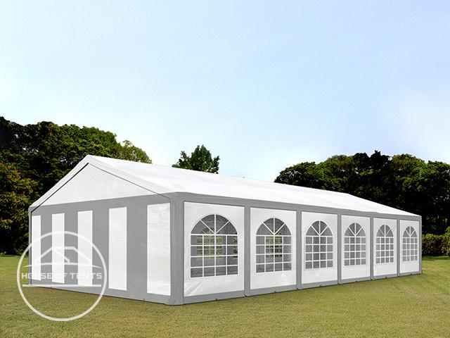 6x12m Marquee / Party Tent, PE 240 g/m², grey-white