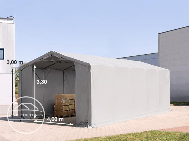 6x10m - 3.0m Sides PVC Industrial Tent with zipper entrance, PVC 550 g/m²