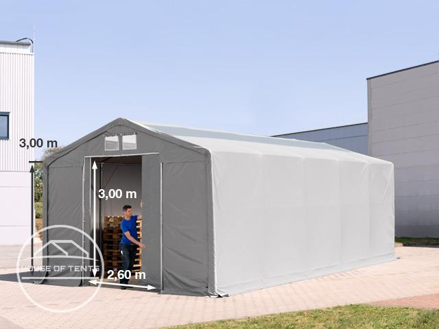6x10m - 3.0m Sides PVC Industrial Tent with sliding door and skylights, PVC 550 g/m²